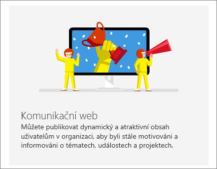 Komunikační web na SharePointu v Office 365