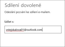 Zadání úplné e-mailové adresy