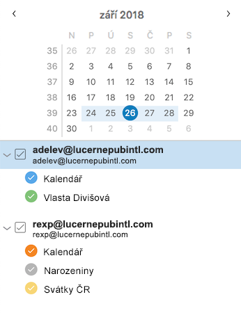 Vylepšený boční panel kalendáře