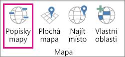 Možnost Popisky mapy 3D map