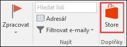 Tlačítko Uložit v Outlooku