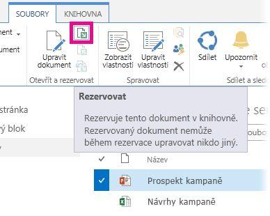 Rezervování souboru