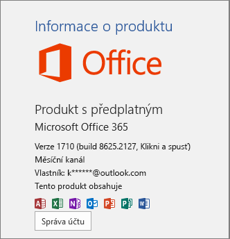 Běžná sada Office 365 Build