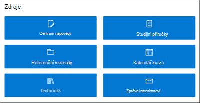 Obrázek webové části Rychlé odkazy na školicích webech