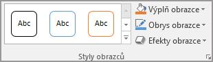 Skupina styly obrazců aplikace Word