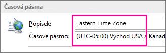 Východní časové pásmo