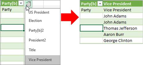 Přidání datového typu sloupce