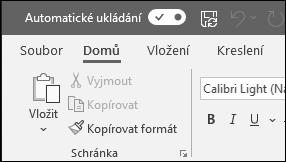 Přepínání Automatického ukládání v Office