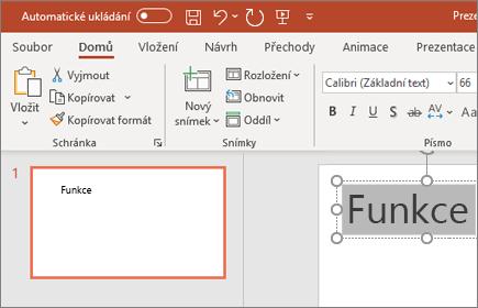 PowerPoint – formátování textu