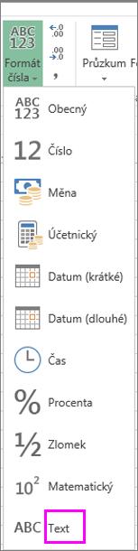 Textový formát pro čísla