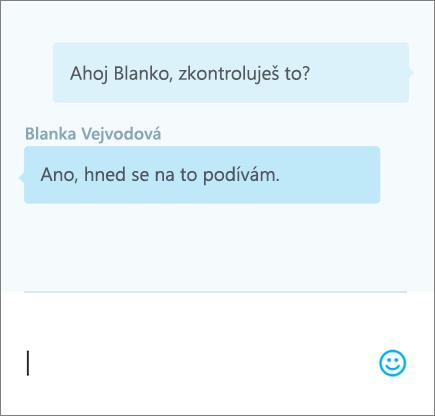 Chat v dokumentu – 3