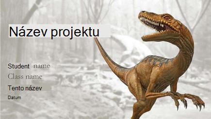 Koncepční obrázek sestavy 3D Dinosaur