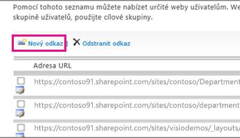 Ukázka obrazovky s možností konfigurace důvěryhodných webů