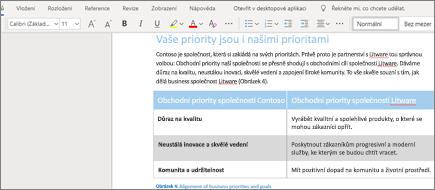 Formátování textu ve Wordu Online