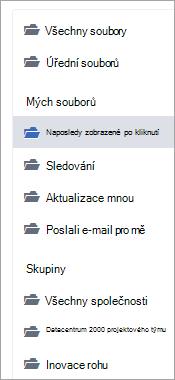 Seznam s umístění souboru
