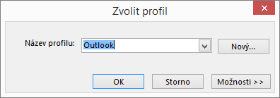 Dialogové okno Zvolit profil