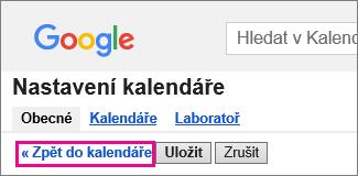 kalendář google – klikněte na zpět do kalendáře