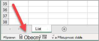 """The Excel status bar showing a """"General"""" sensitivity label has been applied"""