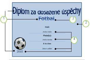 Šablona Fotbal