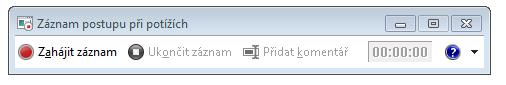 Snímek obrazovky záznamu postupu nebo PSR.exe.