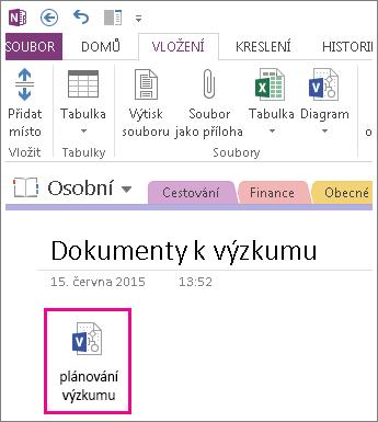 Ikona vložení souboru Visia na stránku