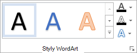 Skupina styly WordArtu