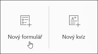 Formulář pro vytvoření nového průzkumu