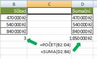 Počítání versus sčítání