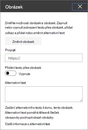 Nástrojů webové části Obrázek