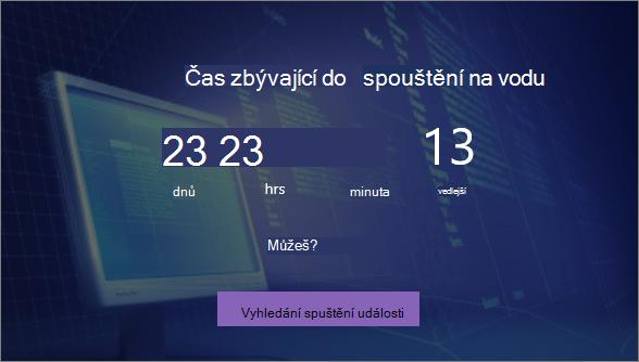Odpočítávání webové části časovače
