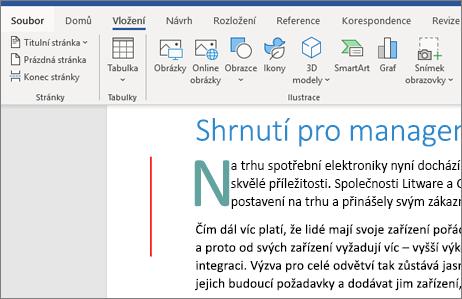 Office 365 Word – obrázky, SmartArt, grafy