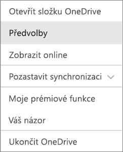 Centrum aktivit ve OneDrivu pro Mac