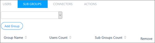 Snímek obrazovky: Přidání skupiny dílčí Kaizala nadřazené skupině