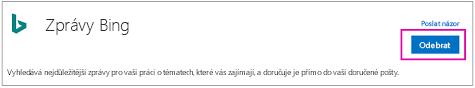 Odebrání tlačítka na spojnici příspěvky Bing