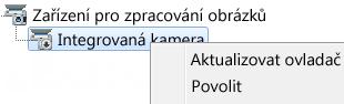 Snímek obrazovky Správce zařízení
