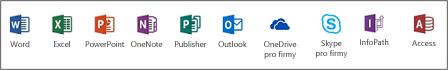 Desktopové aplikace Office (ProPlus)