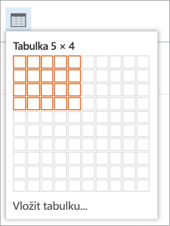 Přidejte jednoduchou tabulku v Outlooku na webu.