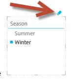 Ikona Vymazat filtr v nástroji Power View