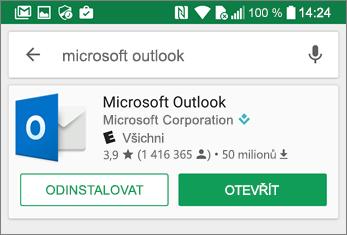 Klepnutím otevřete aplikaci Outlook