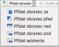 Organizační diagram – přidání obrazce
