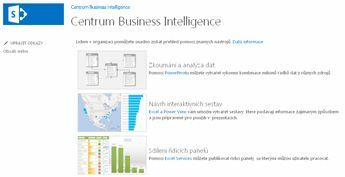 Domovská stránka webu centra Business Intelligence