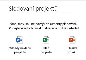 Vložené soubory na stránce ve OneNotu pro Windows 10