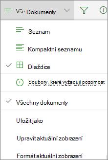 Office 365 Změna zobrazení knihovny dokumentů