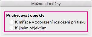 Deaktivovat přichycení, zrušte zaškrtnutí možnosti ve skupinovém rámečku Přichytit objekty.