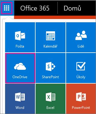 Jak otevřít OneDrive pro firmy.