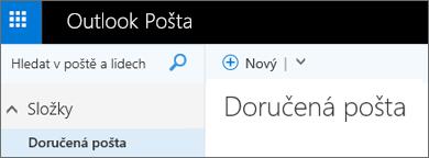 Nový pás karet ve službě Outlook.com