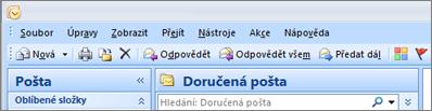 Pás karet v Outlooku 2007