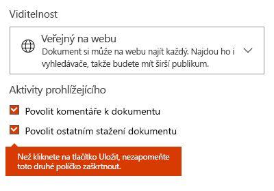 Možnost stažení dokumentu na Docs.com