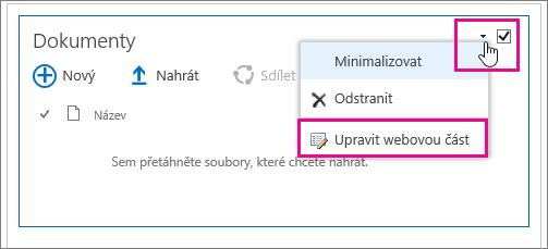 Změna názvu knihovny dokumentů