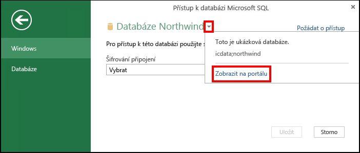 Zobrazení informací o zdroji dat na portálu
